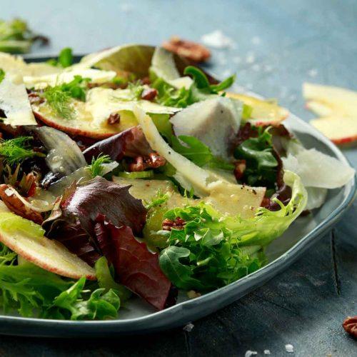 Apple Pecan Spring Salad Recipe with Dressing
